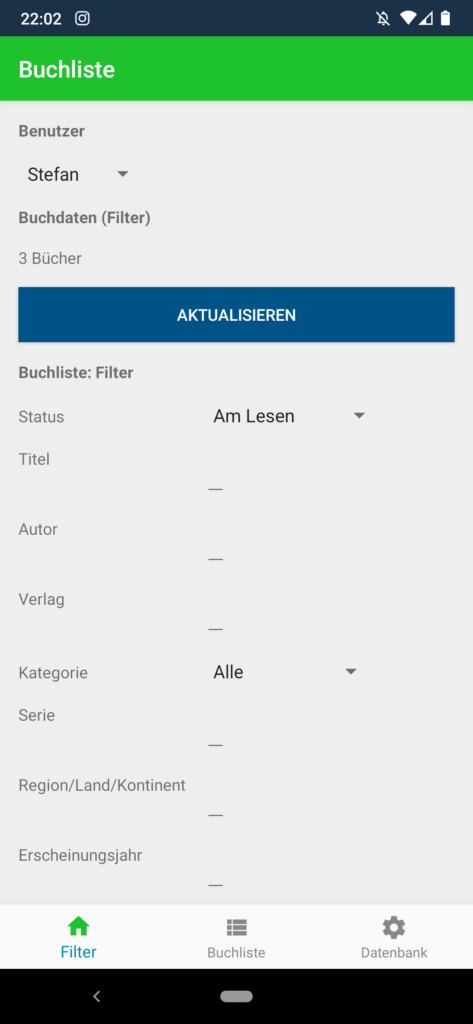 Buchliste Software App