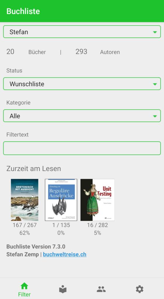 Buchliste Software App